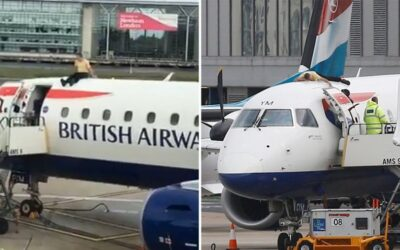 Activist Climbs On Top Of British Airways Plane Causing London City Chaos