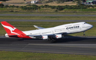 Qantas Draws Kangaroo In The Sky With Retired Boeing 747