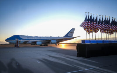 Trump Takes Final Air Force One Flight Ahead Of Inauguration
